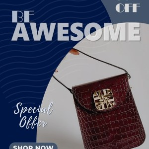 4:5 Video Ad for Designer Bags with PowerPoint Design Template