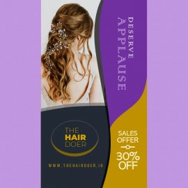 9:16 Marketing Video Ad on Wedding Hairstyles for Women | PowerPoint Design Template