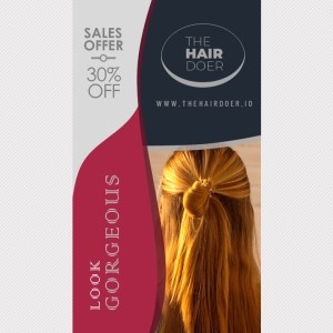 9:16 Sales Video Ad on Straight Hairstyles | PPT Design Template