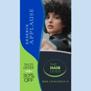 Style Video Ad on Curly Hairstyles   PowerPoint Design Template