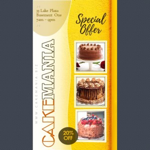 9:16 Sales Video Ad on Birthday Cakes | PPT Design Template
