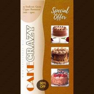 9:16 Promo Video Ad on Chocolate Cake | PPT Design Template
