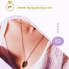 Gold Necklace PPT Video Ad Template