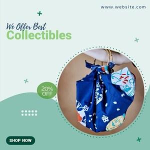 PPT Video Template for Cute Furoshiki Tote Bag