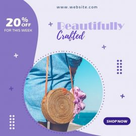 Stylish Rattan Bags - PPT Video Template