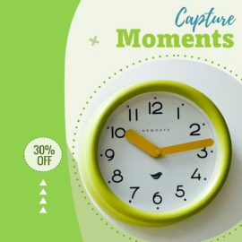 Clock on Wall - PowerPoint Video Template for Clock as Gift