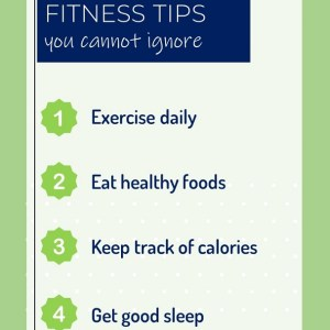 Vertical PPT Video Template on 5 Fitness Tips