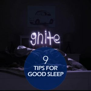 Pinterest Ideas Template - 9 Good Sleep Tips