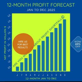 Animated PPT Video - Profit Chart