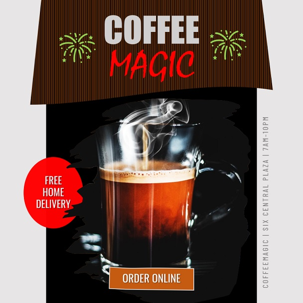 PPT Sales Video Template Promoting Coffee